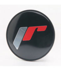 Cap Sticker for C087 - Black + Silver/Red Letters